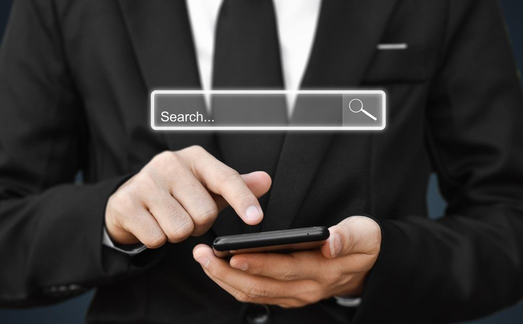 Man searching on phone