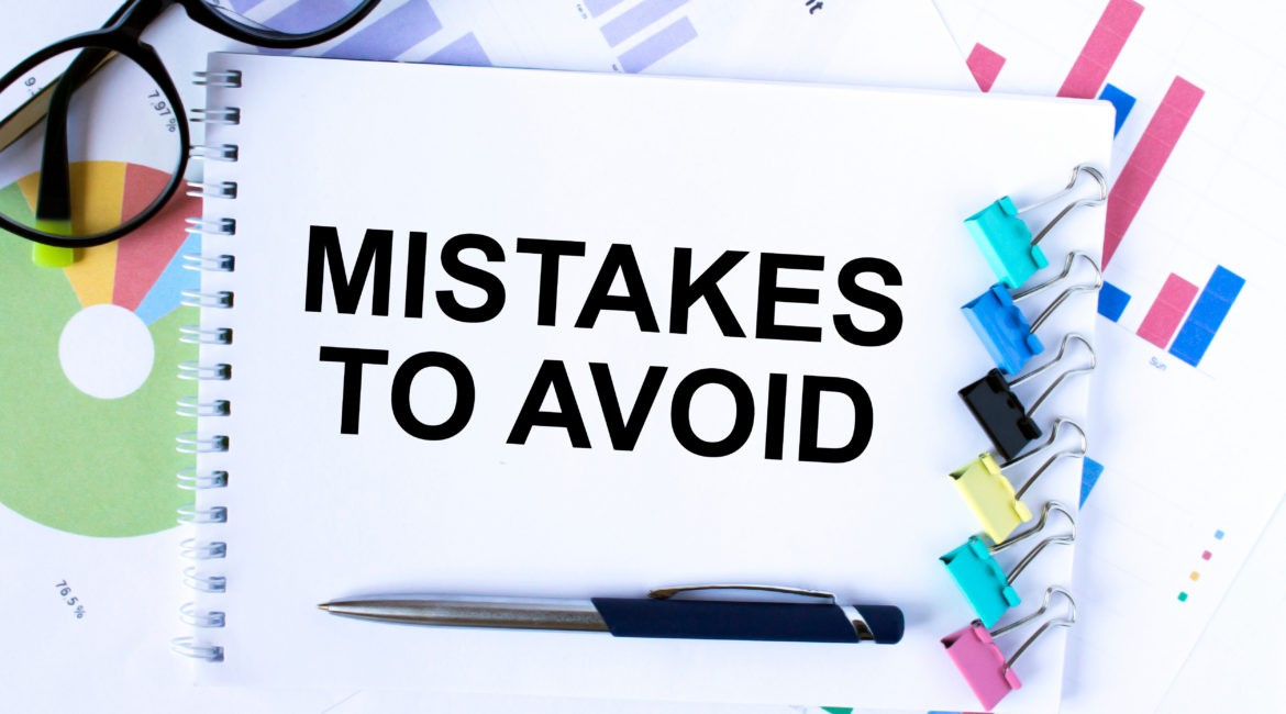 Mistakes to Avoid on a notepad