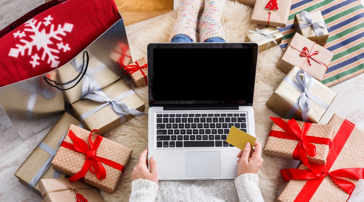 presents and laptop